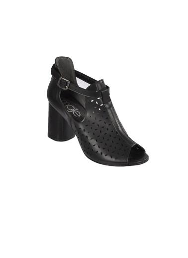 Maje 6050 Siyah Kadın Topuklu Ayakkabı Siyah